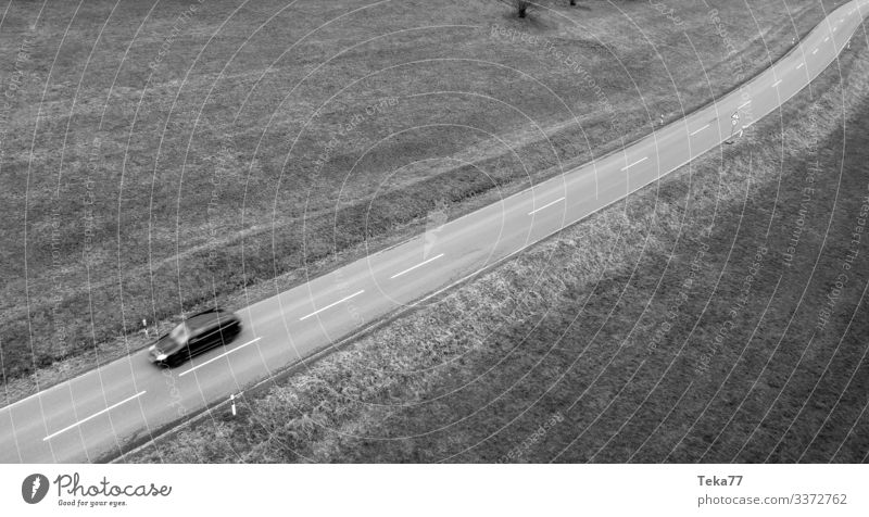 #Auto drive SW Transport Means of transport Traffic infrastructure Street Esthetic Country road Colour photo Exterior shot Aerial photograph