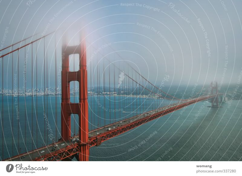 Sky Vacation & Travel Blue City Water Ocean Red Architecture Exceptional Dream Car Fog To enjoy Bridge Driving Manmade structures