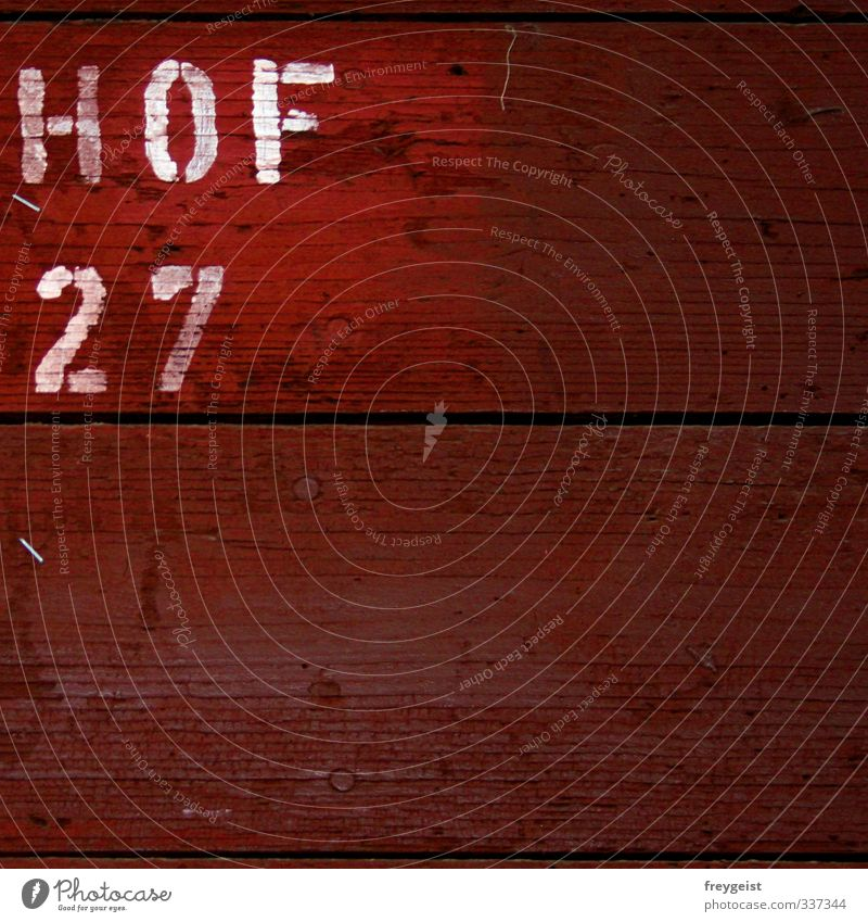 HOF 27 Manmade structures Building Wall (barrier) Wall (building) Facade Wood Signs and labeling Living or residing Colour photo Exterior shot Abstract Pattern