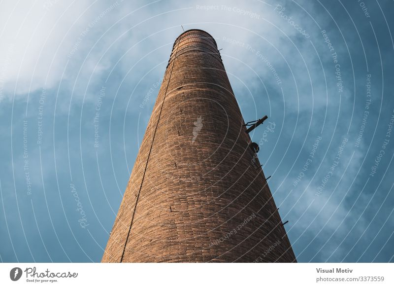 Old chimney of an abandoned factory Factory Industry Sky Clouds Architecture Brick Tall Colour old chimney brick structure brick chimney