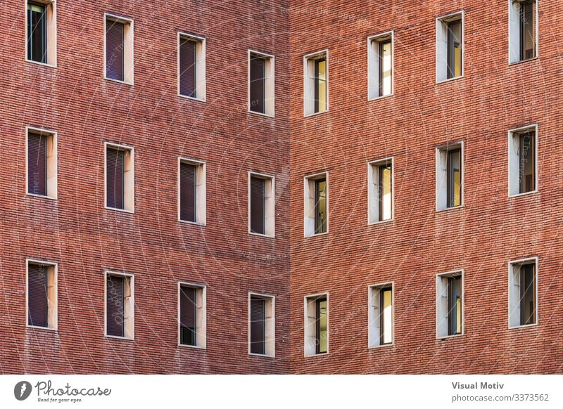 Symmetrical facades of a building Design Building Architecture Facade Brick Colour windows building facade urban old brick building urban facade exterior
