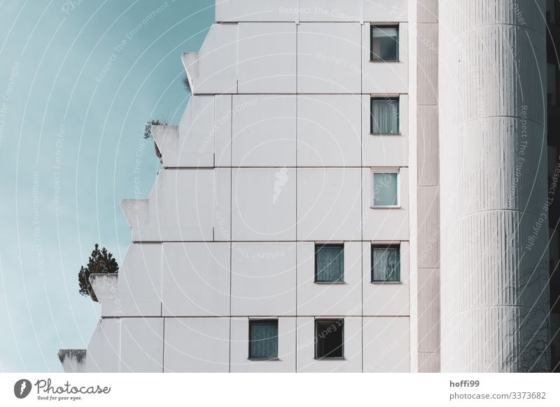 abstract facade High-rise Bank building Window Facade Building Esthetic Symmetry Surrealism Abstract Light Stagnating Pure Financial Industry Arrangement Tall