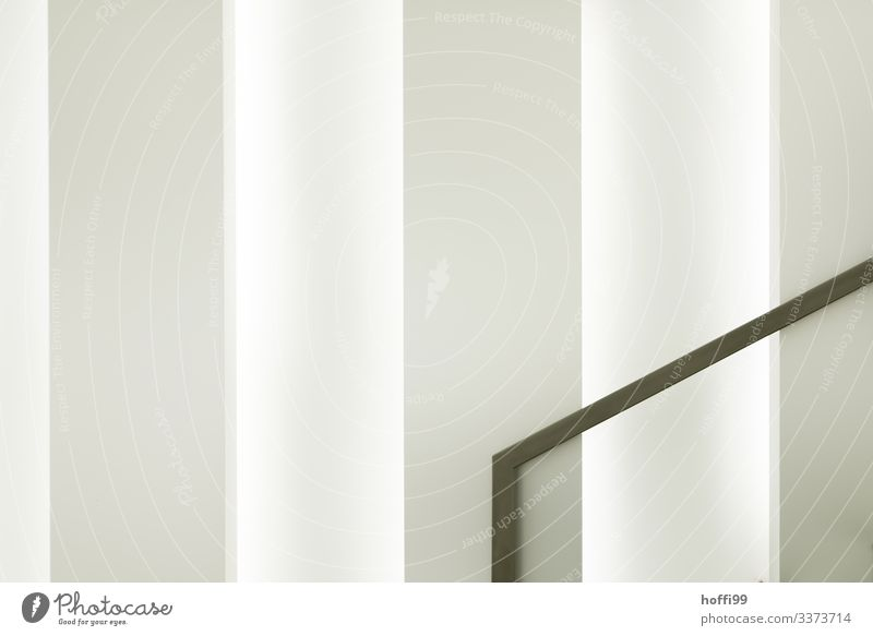 Handrail Stair railing in front of white wall abstract form Architecture architectural photography interior Minimalistic Wall (building) structured wall