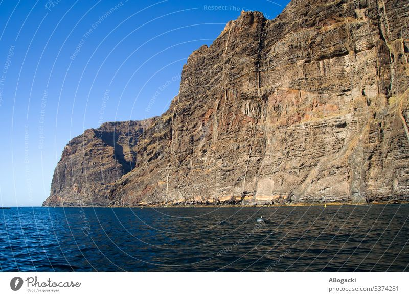 Los Gigantes Cliff In Tenerife, Canary Islands Vacation & Travel Tourism Ocean Nature Landscape Water Rock Coast Canaries Blue Adventure Formation seascape