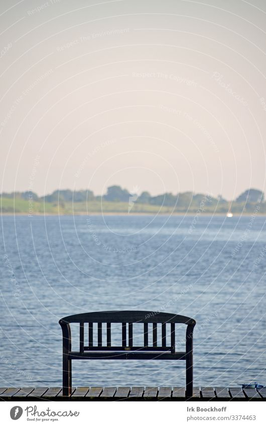 bench in front of water Rest tranquillity Bench Calm Relaxation Exterior shot Loneliness Nature Landscape Sit Deserted sad Wait Sadness Water Vacation & Travel