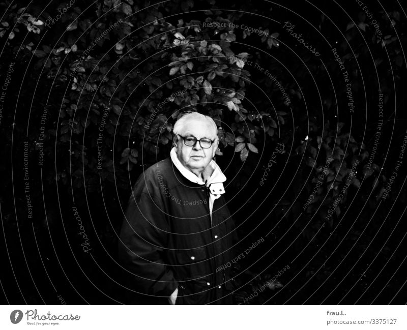 Old man Human being Masculine Male senior Man 1 60 years and older Senior citizen Environment Nature Plant Foliage plant Jacket Eyeglasses Black-haired