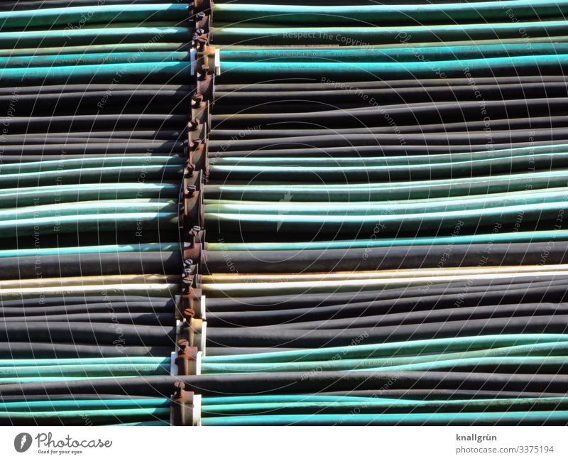 Energy! Cable wiring harness Bracket Screw Town Multicoloured Network Electricity Colour photo Exterior shot Deserted Day