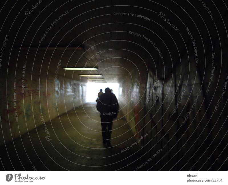 Human being Dark Hope Bridge Tunnel Underpass Black Holes