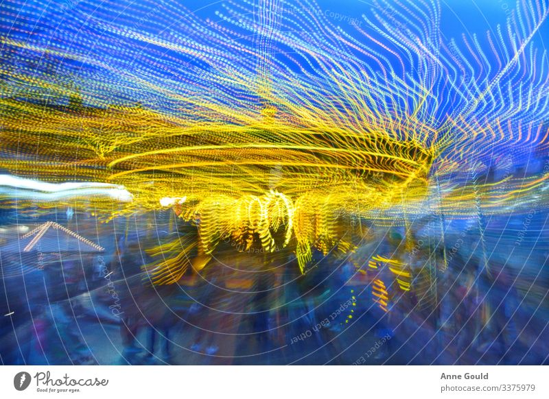 Abstratct roundabout lightshow Joy Leisure and hobbies Adventure Freedom Sightseeing City trip Night life Entertainment Event Going out Feasts & Celebrations