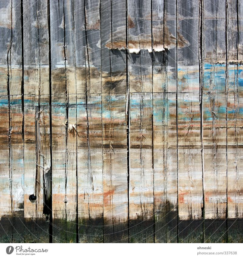 mooring Navigation Harbour Jetty Wooden board Line Old Broken Decline Colour photo Multicoloured Exterior shot Abstract Pattern Structures and shapes Deserted
