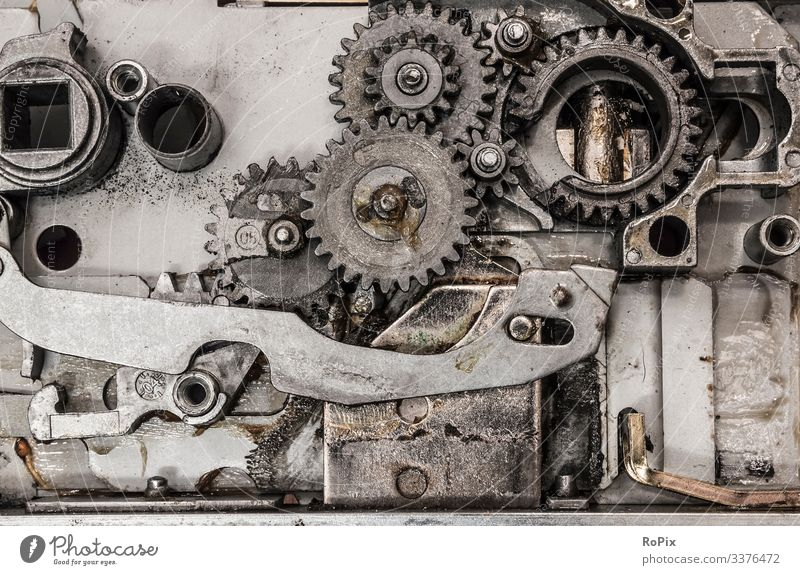Gear mechanism of an automatic door locker. Lifestyle Style Model-making Education Science & Research Work and employment Profession Workplace Construction site
