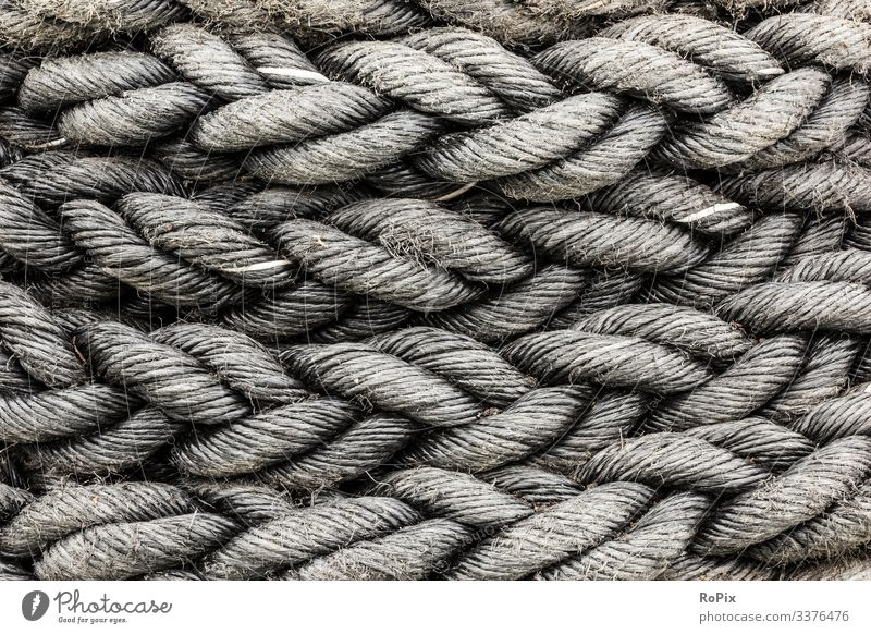 Detail of used mooring rope. Lifestyle Style Leisure and hobbies Handicraft Model-making Vacation & Travel Tourism Sightseeing City trip Work and employment