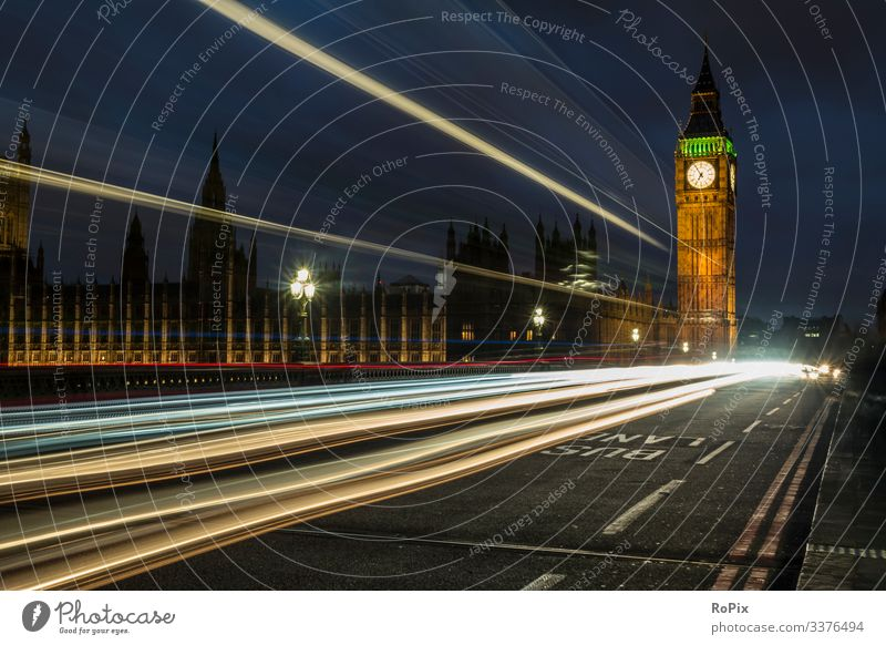 Traffic on Westminster Bridge. Lifestyle Design Vacation & Travel Tourism Sightseeing City trip Work and employment Profession Economy Industry Trade Logistics