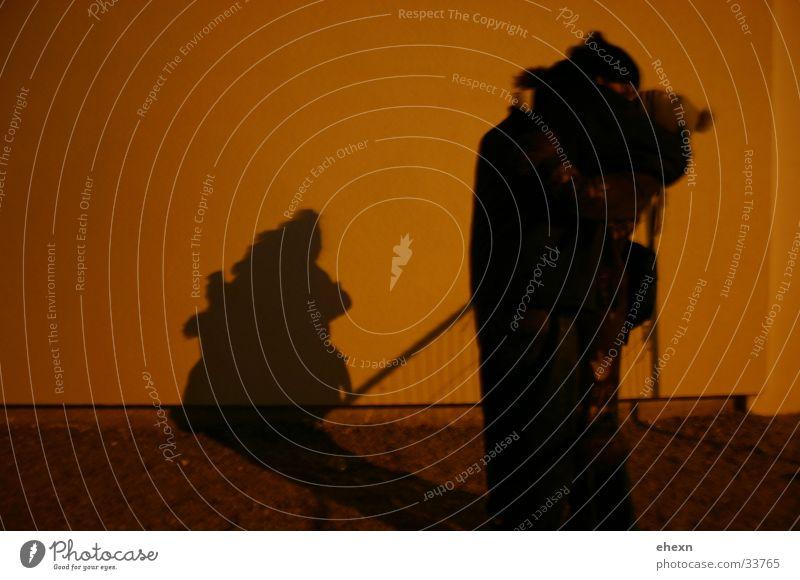 shadow play Embrace Kissing Night Dark Human being Love Shadow Romatic Evening