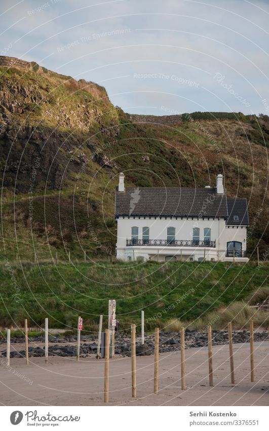 Beach house House building fall Ireland Northern Ireland Landscape Colour photo Vacation & Travel Day Exterior shot