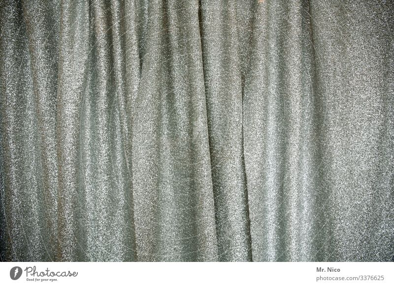 Curtain Up Drape Curtain up Curtain closed Cloth Decoration Structures and shapes Pattern Silver sparkle stage curtain Backstage Unicoloured Velvet Stage
