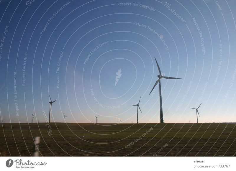 Sky Calm Wind Industry Wind energy plant Rotate