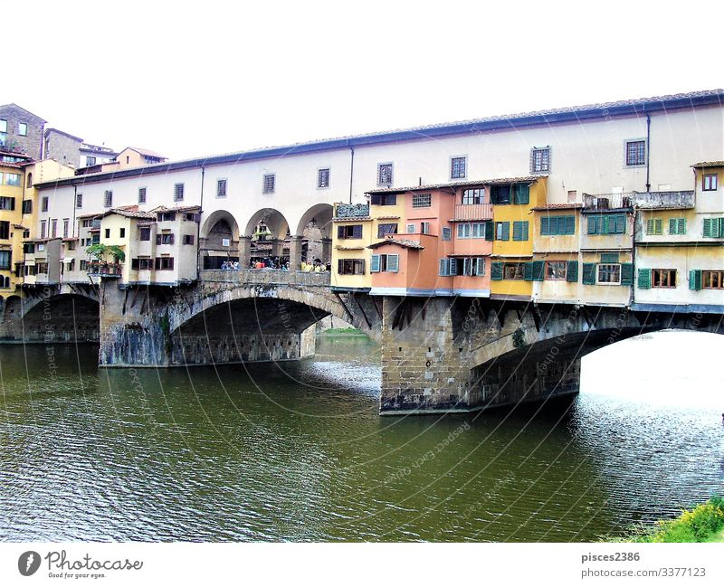 Ponte Vecchio in Florence Vacation & Travel Nature ancient antique Gateway Arch architecture Arno beauty bridge construction culture day Europe European famous