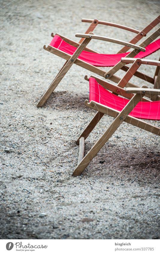 Vacation & Travel Summer Sun Red Relaxation Calm Gray Wellness Sunbathing Summer vacation Deckchair