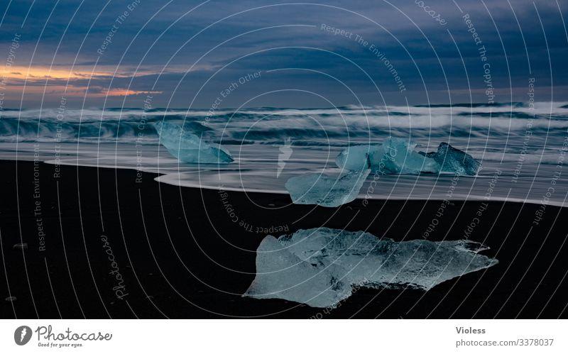 Iceland, ice, jökulsarlon, glaciers Snow Frost Glacier Cold Blue Jökulsárlón Vatnajökull glacier Lagoon Iceberg Glacier tongue Colour photo Waterfall