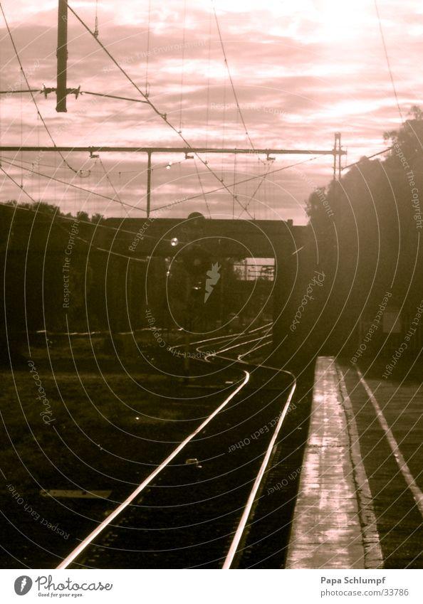 Warmth Railroad Physics Hot Railroad tracks Australia Afternoon Melbourne Terminus
