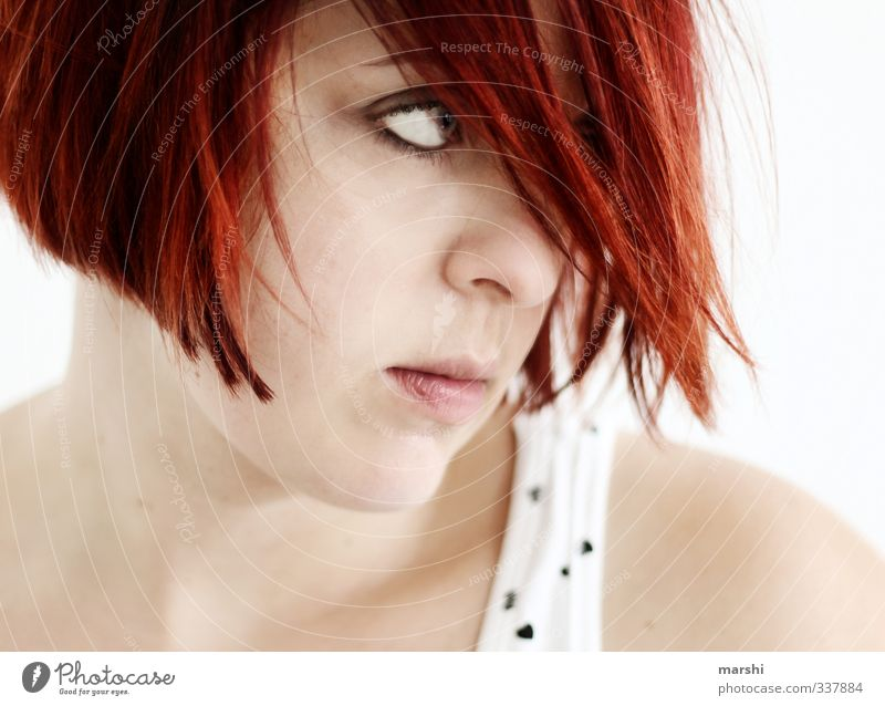 on fire Lifestyle Style Human being Feminine Young woman Youth (Young adults) Woman Adults Head 1 30 - 45 years Emotions Moody Red-haired Pallid Evil