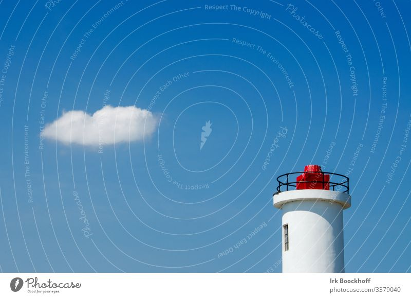 Lighthouse with cloud in summer Harmonious Relaxation Calm Meditation Vacation & Travel Tourism Trip Adventure Summer Summer vacation Ocean Aquatics Sailing Sky
