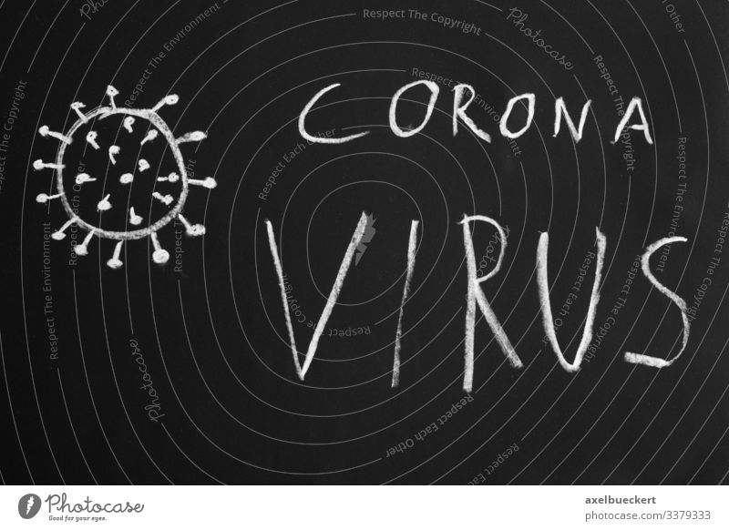 Coronavirus Corona Virus Covid-19 Healthy Health care Illness Simple Threat Crisis Fear of death Risk corona coronavirus Illustration Text Chalk drawing