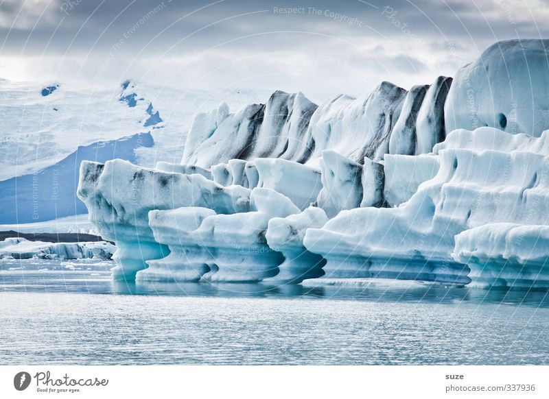 ice worlds Vacation & Travel Ocean Winter Environment Nature Landscape Elements Water Sky Clouds Horizon Climate Climate change Ice Frost Exceptional Fantastic