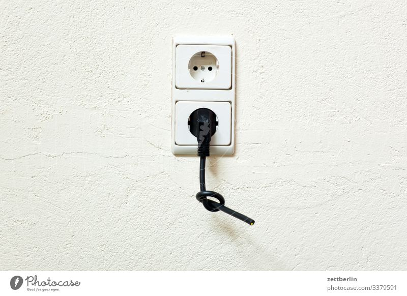 Plug in the socket Electrics electrician Electronics Infrastructure Cable Schuko Save Socket Connector stream power line electricity price power supply