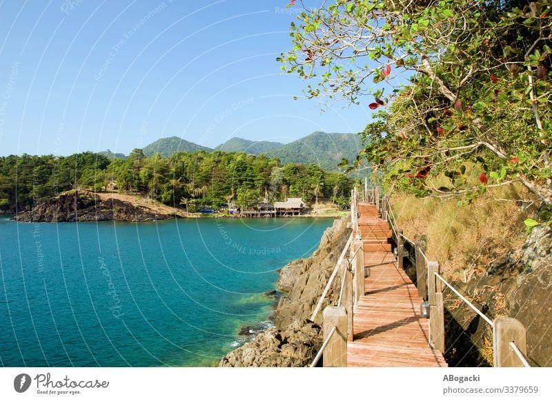 Ko Chang Island Sea Coast In Thailand asia cliff coast coastal coastline destination flora gulf island lagoon nature ocean outdoors paradise sea seascape serene