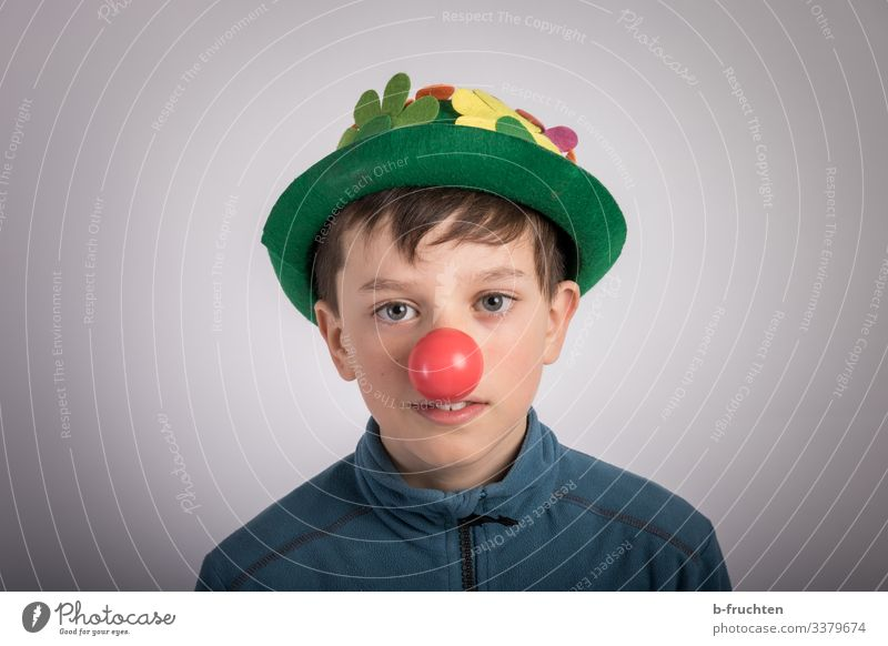 clown Party Event Feasts & Celebrations Carnival Child Face Nose 1 Human being 8 - 13 years Infancy Hat Playing Moody Joy Cool (slang) Clown Laughter