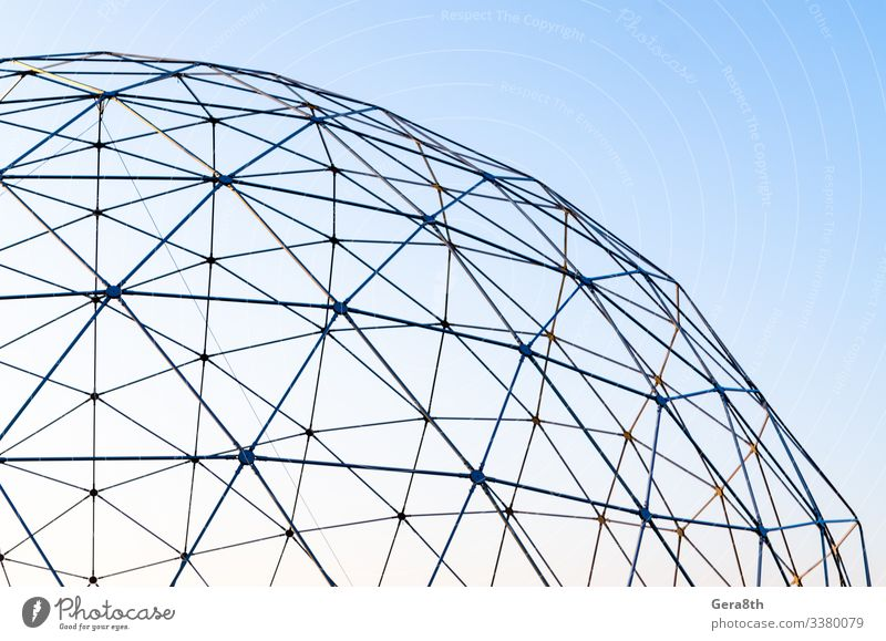 Art Sky Architecture Metal Sphere Line Thin Modern background Connect connection construction empty Fragment Geometry intersection iron isolated