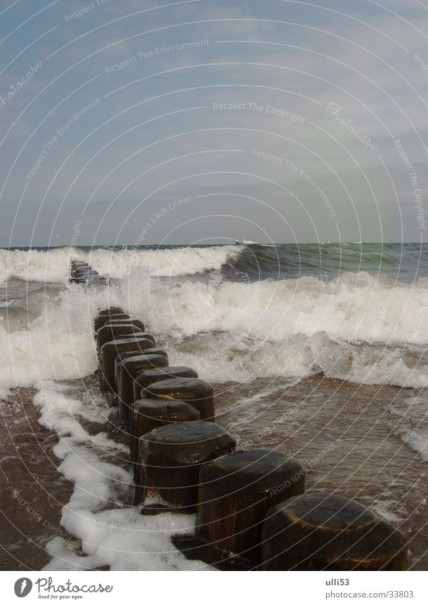 Water Ocean Beach Waves Wind Baltic Sea Foam Break water Wind speed