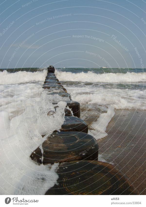 Water Ocean Summer Beach Waves Wind Baltic Sea Foam Break water Wind speed