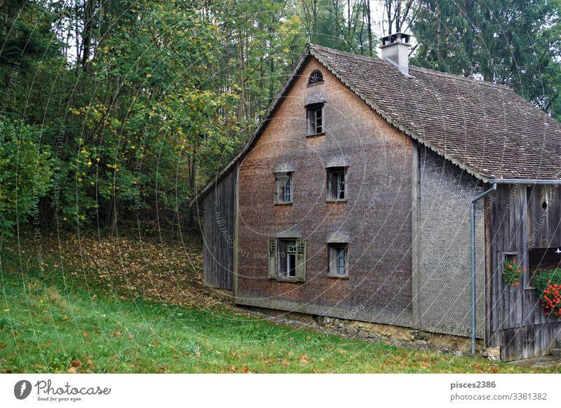 Wooden Biedermann house in the village of Schellenberg ancient liechtenstein europe schellenberg architecture old wood wooden building exterior history tourism