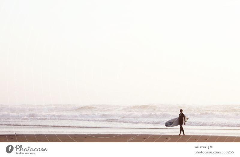 Manneken Surf. Lifestyle Elegant Style Design Leisure and hobbies Art Esthetic Contentment Surfing Surfer Surfboard Surf school Masculine Extreme sports