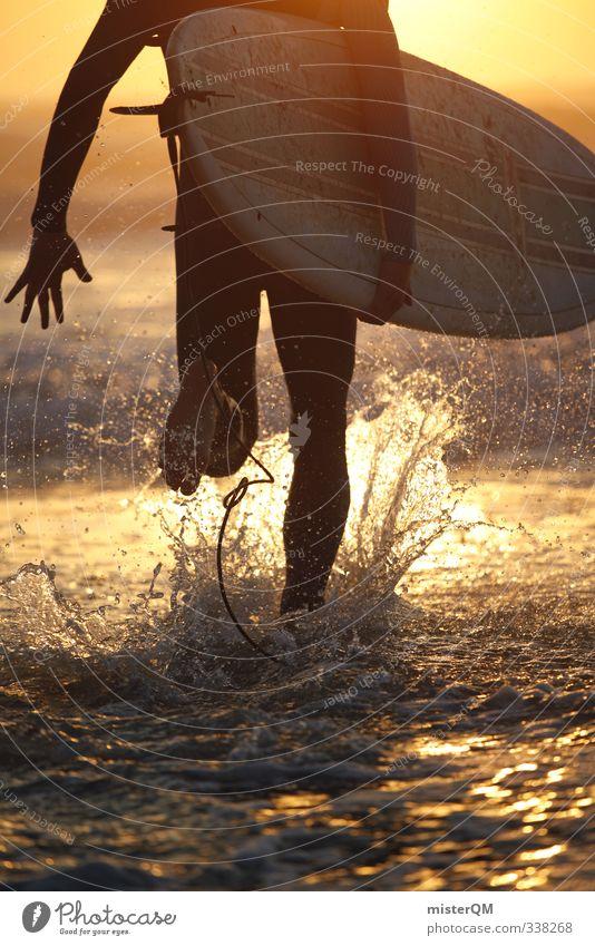 Sun Joy Beach Young man Movement Coast Style Feet Art Gold Leisure and hobbies Elegant Walking Lifestyle Design Modern