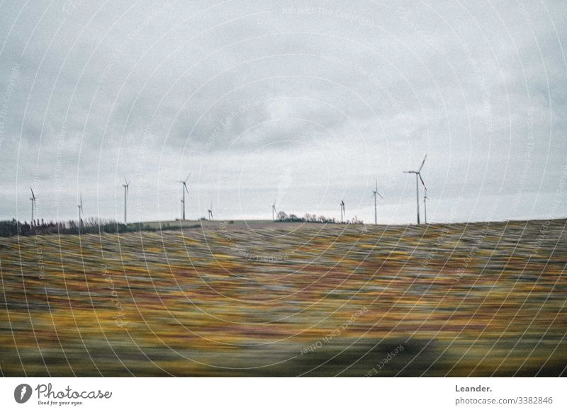 windmills Pinwheel Wind energy plant Field Ecological eco-power