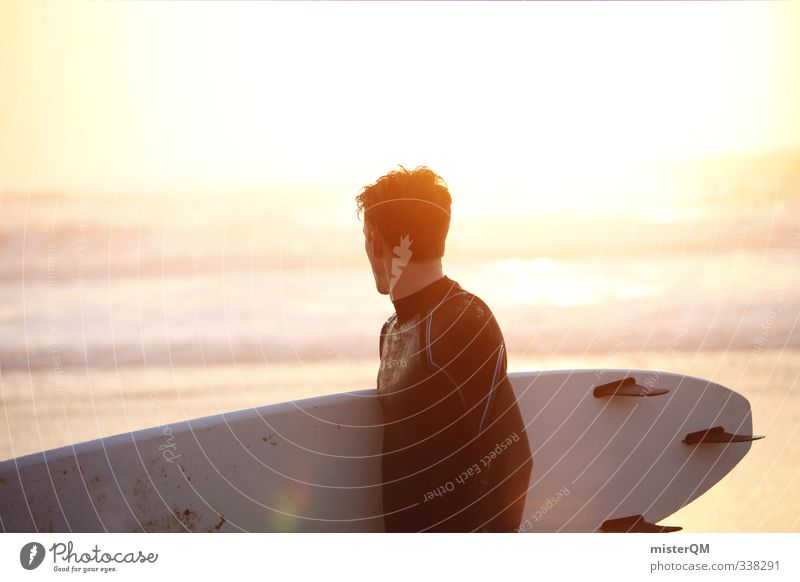 Man Ocean Relaxation Young man Sports Eroticism Style Art Masculine Waves Leisure and hobbies Elegant Contentment Lifestyle Modern Esthetic