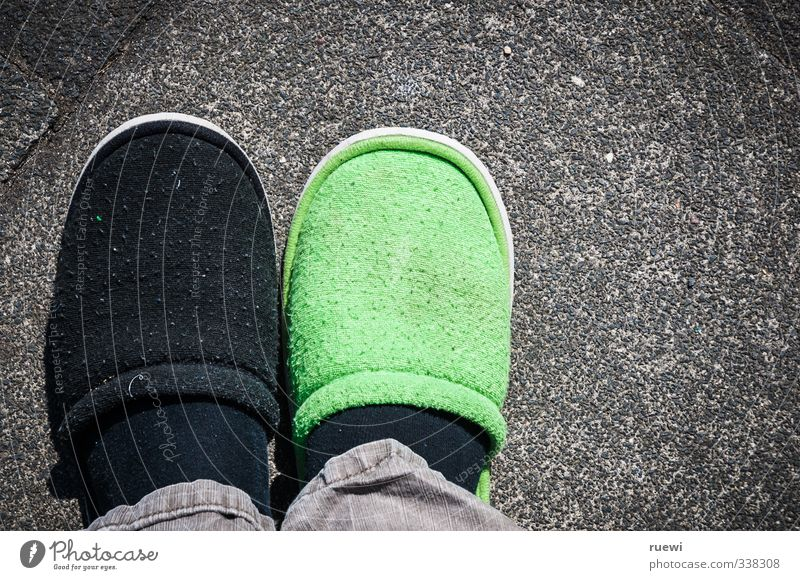 Human being Old Green City Black Senior citizen Stone Style Healthy Feet Masculine Health care Footwear Stand Lifestyle Concrete