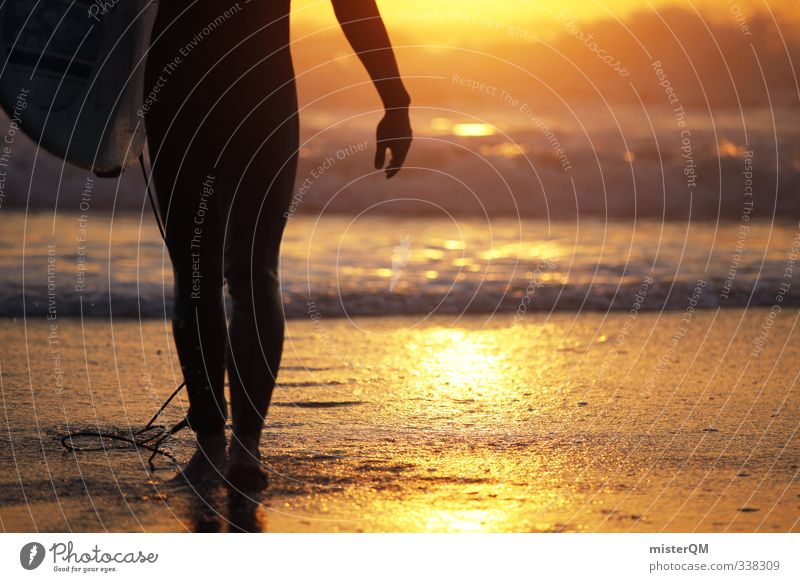 Human being Man Summer Ocean Joy Beach Freedom Legs Art Masculine Waves Leisure and hobbies Elegant Idyll Contentment Walking