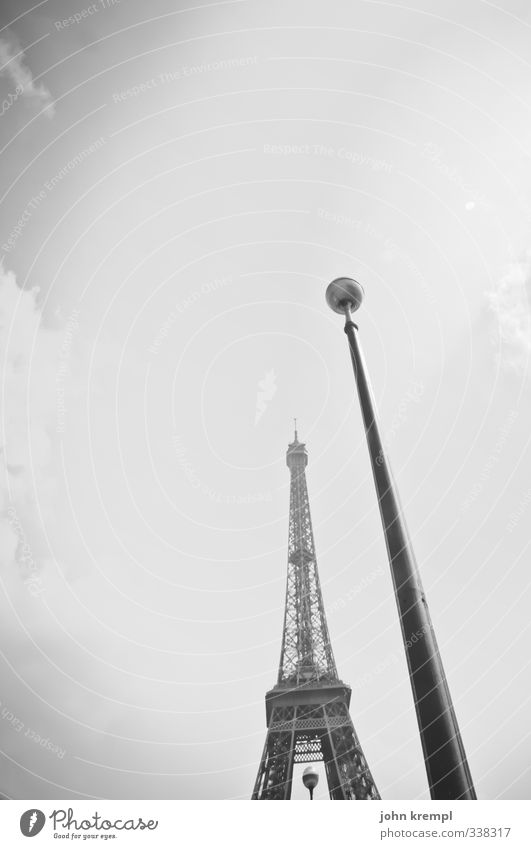 The two towers Paris France Capital city Tower Manmade structures Building Architecture Lamp post Street lighting Tourist Attraction Landmark Monument