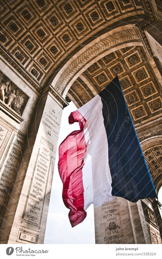 City Religion and faith Freedom Large Esthetic Europe Flag Belief Brave Capital city Tradition Landmark Downtown Paris Gate France