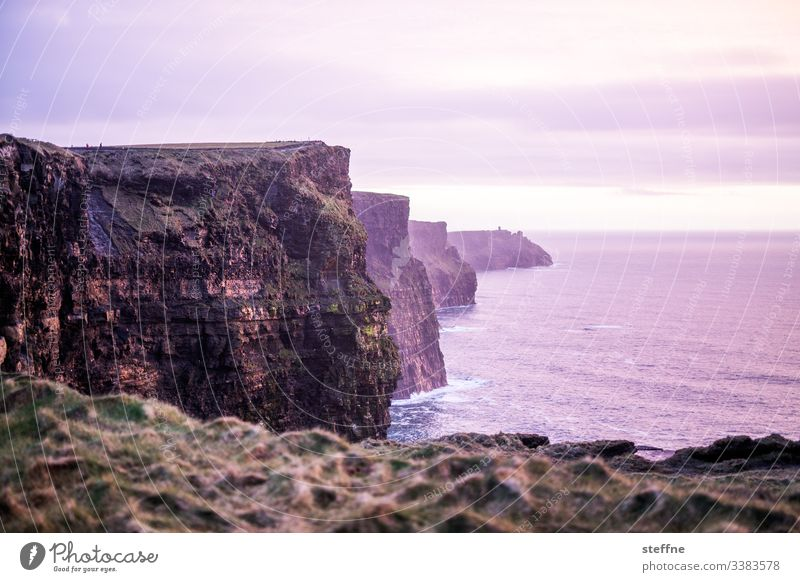 Cliffs of Moher at sunset Tourist Attraction tourist attraction vacation romantic Sunset blue hour Cliffs by the sea steep coast Ireland