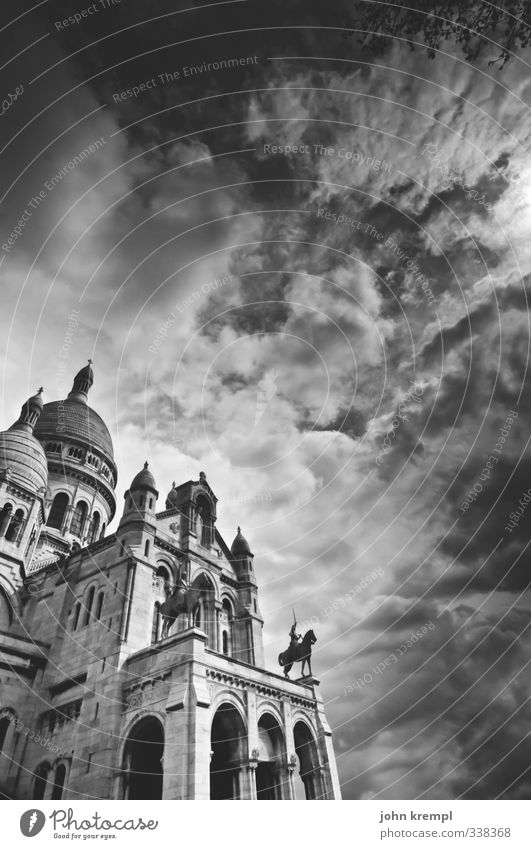 Sacred Heart Paris France Capital city Church Manmade structures Building Architecture Basilica Facade Domed roof Tourist Attraction Sacré-Coeur Esthetic Large