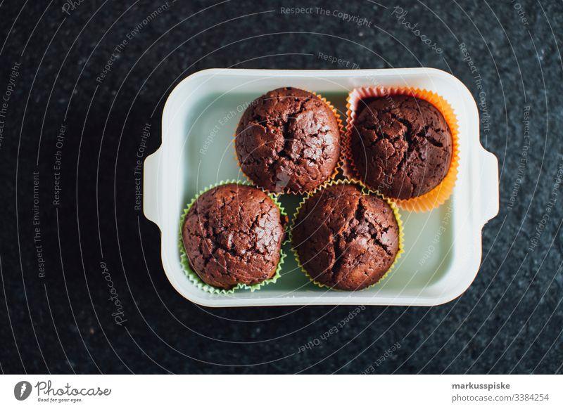 homemade chocolate muffins Chocolate Muffins sweet dish Cake Dessert Sweet chocolaty handcraft Packaging