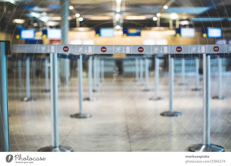 Arrival Departure Airport Nuremberg display arrivals hall landing vacation Return Digital Display Gangway Security gate safety distance safety shut-off