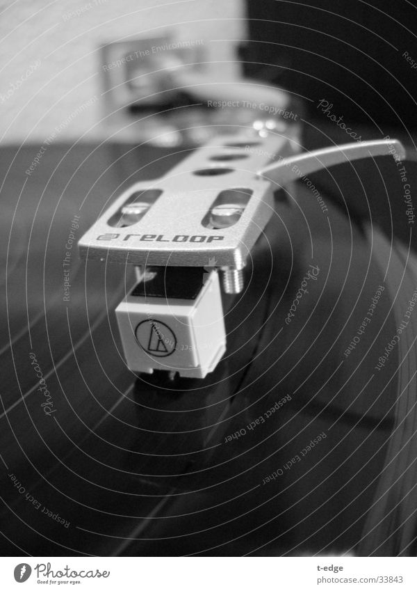 Let the music play Record player Pick-up head Electrical equipment Technology loopy Music Turntable