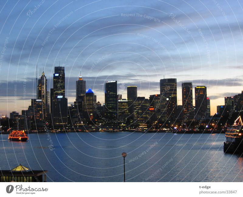 Skyline of Sydney Australia Twilight New years eve